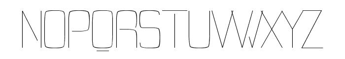 Tevegraphy Light Font UPPERCASE