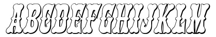 Texas Ranger 3D Italic Font UPPERCASE
