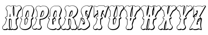 Texas Ranger 3D Italic Font LOWERCASE