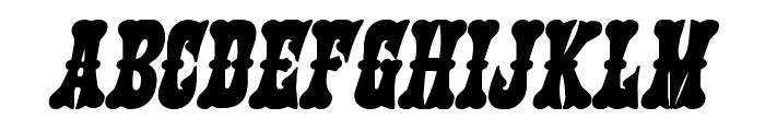 Texas Ranger Bold Italic Font LOWERCASE