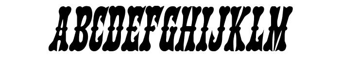 Texas Ranger Condensed Italic Font UPPERCASE
