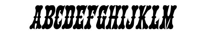 Texas Ranger Condensed Italic Font LOWERCASE