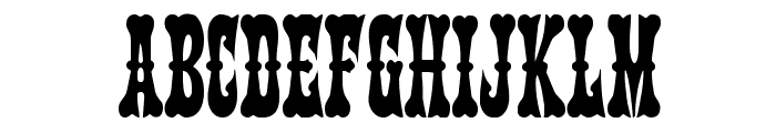 Texas Ranger Condensed Font UPPERCASE
