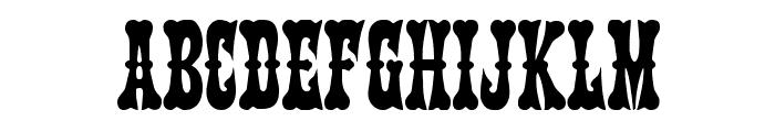 Texas Ranger Condensed Font LOWERCASE