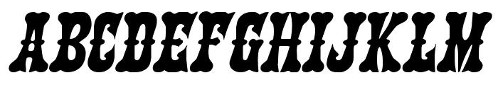 Texas Ranger Expanded Italic Font UPPERCASE