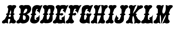 Texas Ranger Expanded Italic Font LOWERCASE
