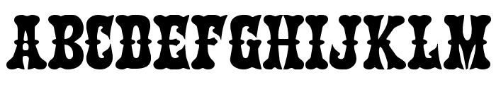 Texas Ranger Expanded Font LOWERCASE