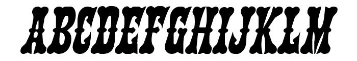 Texas Ranger Italic Font UPPERCASE
