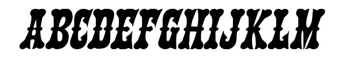 Texas Ranger Italic Font LOWERCASE