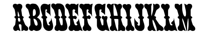 Texas Ranger Leftalic Font UPPERCASE