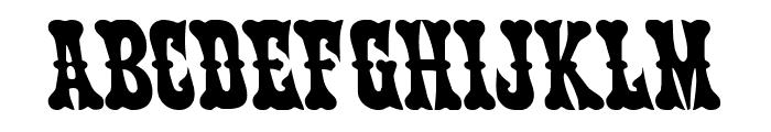 Texas Ranger Leftalic Font LOWERCASE