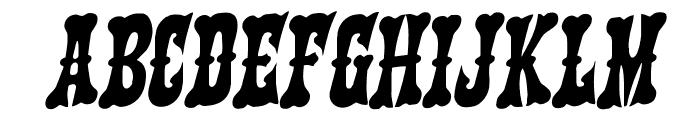 Texas Ranger Rotalic Font UPPERCASE