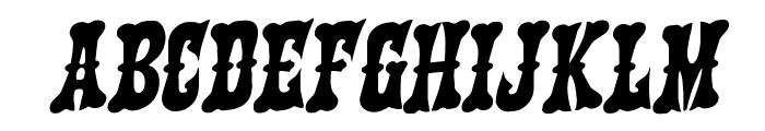 Texas Ranger Rotalic Font LOWERCASE