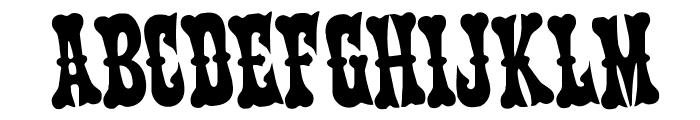 Texas Ranger Rotated Font UPPERCASE