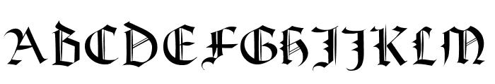 Textura Modern Font UPPERCASE