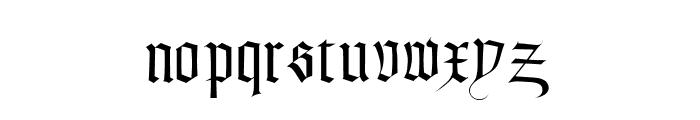Textura Modern Font LOWERCASE