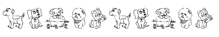 tender puppies Font OTHER CHARS