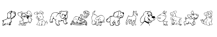 tender puppies Font LOWERCASE