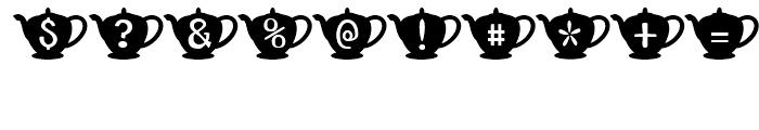 Teapot Regular Font OTHER CHARS
