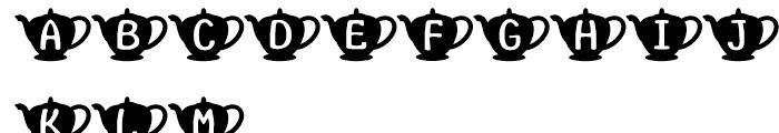 Teapot Regular Font UPPERCASE