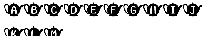 Teapot Regular Font LOWERCASE