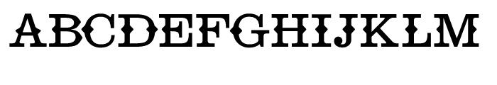 Telegraph Circus Font UPPERCASE