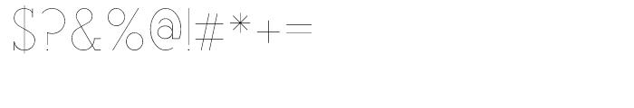 Teletex Ultra Light Font OTHER CHARS