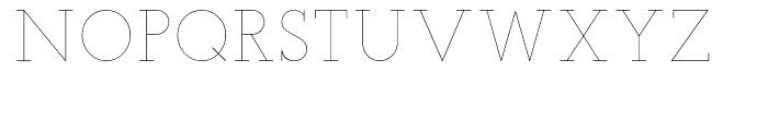 Teletex Ultra Light Font UPPERCASE