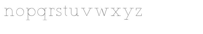 Teletex Ultra Light Font LOWERCASE