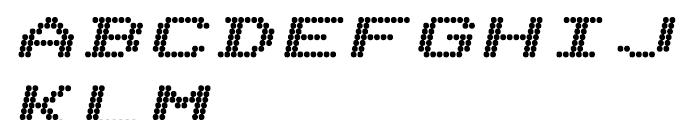 Telidon Extended Heavy Italic Font UPPERCASE