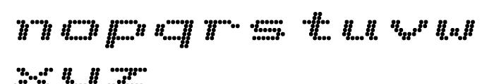 Telidon Extended Heavy Italic Font LOWERCASE