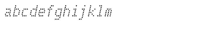 Telidon Ink Italic Font LOWERCASE