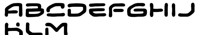 Temporal Gap Expanded Bold Font UPPERCASE