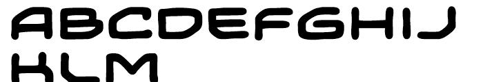 Temporal Shift Expanded Bold Font UPPERCASE