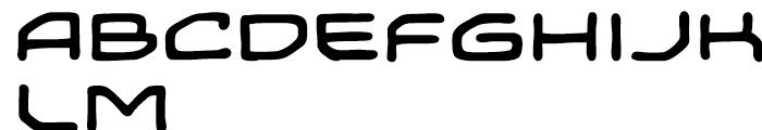 Temporal Shift Expanded Font UPPERCASE