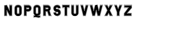 Tenko Haarstrich Font UPPERCASE