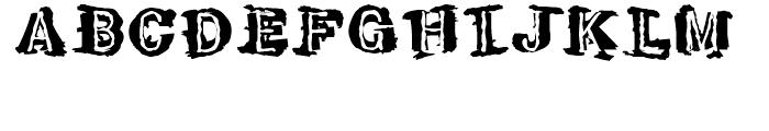 Tenpenny Dreadful Regular Font UPPERCASE