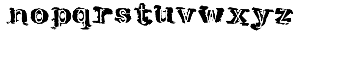 Tenpenny Dreadful Regular Font LOWERCASE
