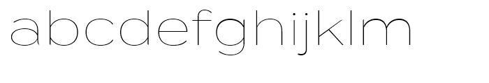 Termina Thin Font LOWERCASE