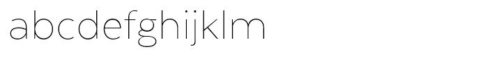 Texta Thin Font LOWERCASE