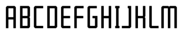 Tecnica Bold Alternate Font UPPERCASE