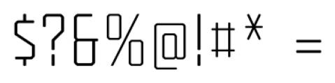 Tecnica Regular Alternate Font OTHER CHARS