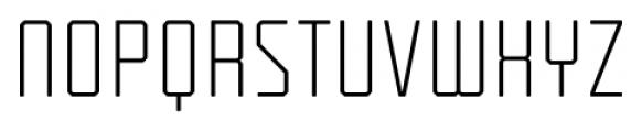 Tecnica Regular Alternate Font UPPERCASE