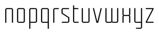 Tecnica Regular Alternate Font LOWERCASE