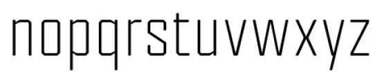 Tecnica Regular Font LOWERCASE