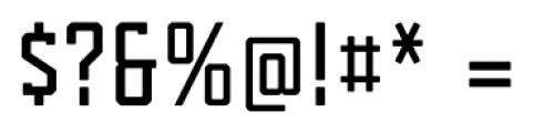 Tecnica Slab Bold Alternate Font OTHER CHARS