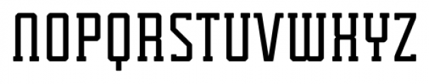 Tecnica Slab Bold Alternate Font UPPERCASE