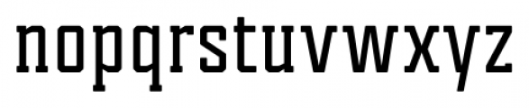 Tecnica Slab Bold Font LOWERCASE
