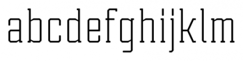 Tecnica Slab Regular Font LOWERCASE