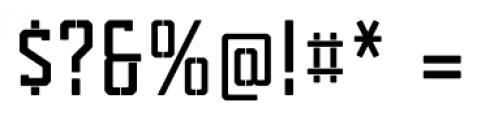 Tecnica Slab Stencil 1 Bold Alternate Font OTHER CHARS